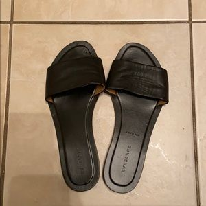 Everlane flat leather slides